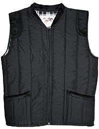 Mens Bodywarmers With Inside Lining Windproof Padded Warm Winterwear (XX-Large, Black)