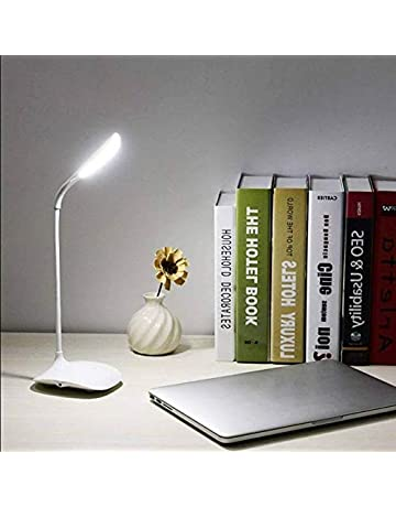 TOPHAVEN Table lamp Shade Less Fashion Flexible Neck LED Reading Eye Protection Study Desk Lamp Brightness Switch Dimmer LED Table Lamp