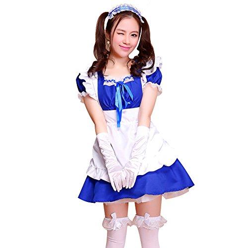 LSERVER-Nette Frauen Schürze Maid Kostüm Anime Cosplay Kostüm Girls Kleid (Anime Girl Cosplay Kostüme)