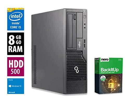 Fujitsu Esprimo E900 DT   PC   Computer   Intel Core i5-2400 @ 3,1 GHz   8GB DDR3 RAM   500GB HDD   DVD-Brenner   Windows 10 Home (Zertifiziert und Generalüberholt)