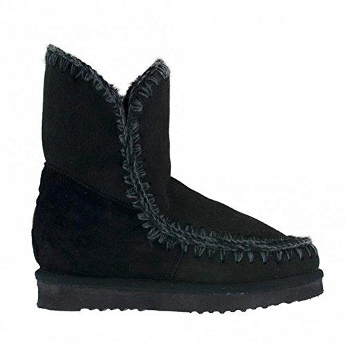 MOU Eskimo Inner Wedge Short Black, bota para mujer Mou, 39