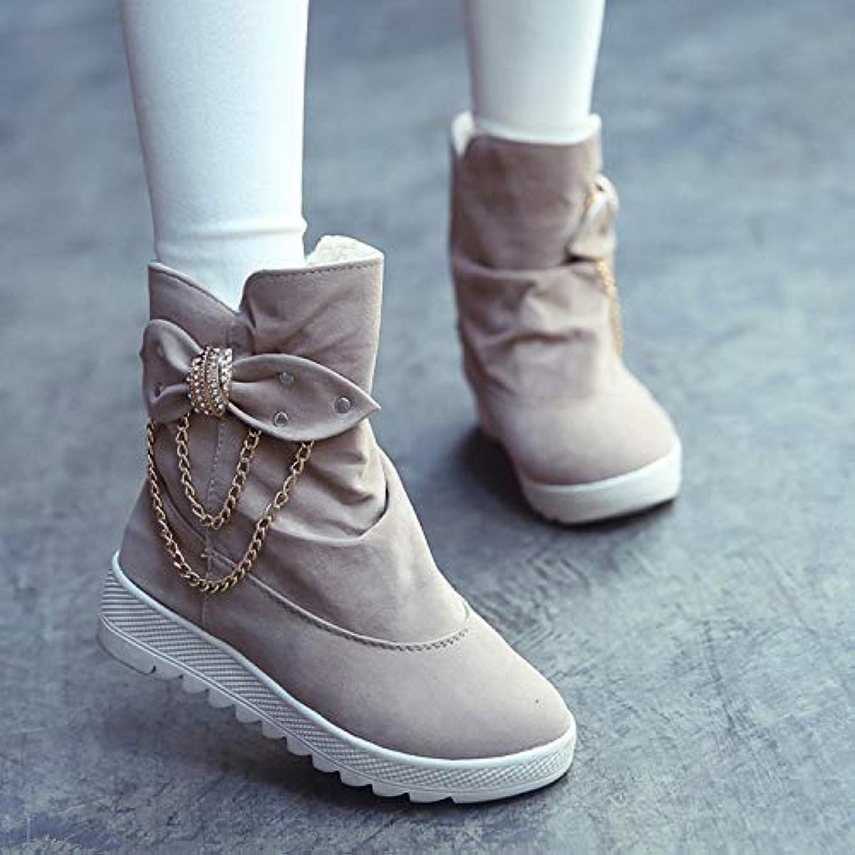 40eb05c6504e haut de la page shishang bottes bottes bottes pour dames en automne et en  hiver tube court européenne tête ronde flat Femmeche des chaussures pour  femmes ...