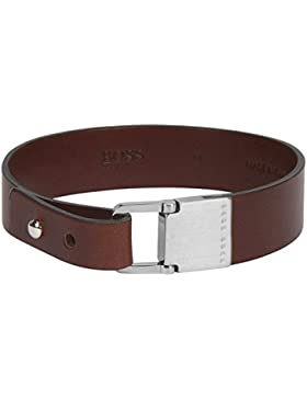 Boss 50371094 Brad Herren Leder-Armband Braun 20 cm 50371094-L-210
