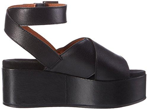 Shoe Biz Platau, Sandales Compensées Femme Noir (Velvet Black)