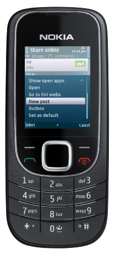 Nokia 2323 classic Handy (GPRS, Bluetooth, E-Mail) black