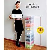 Tatkraft Glasgow 10 Universal Schuhbox Schuhkasten Transparent Gerippte Starke Kunststoff für Tatkraft Glasgow 10 Universal Schuhbox Schuhkasten Transparent Gerippte Starke Kunststoff
