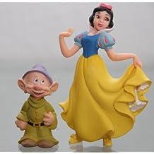 Bullyland - SET of 2 figures : SNOW WHITE & DOPEY/DWARF - Figures : SNOW WHITE approx . 9,5 cm + DOPEY /DWARF approx . 5 cm - Walt Disney