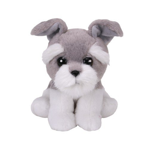 TY - Schauzer 15cm Babies Harper Peluche perro, color gris (United Labels Ibérica 42268TY)