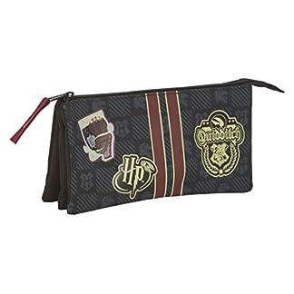 41wF1hCF eL. SS324  - Safta - Estuche Portatodo Triple de Harry Potter Oficial Gryffindor con Cremallera Ultraligero