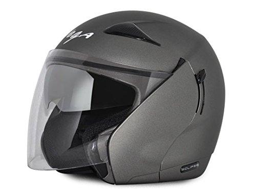 Vega Eclipse ECL-DA-L Open Face Helmet with Double Visor (Dull Antracite, L)