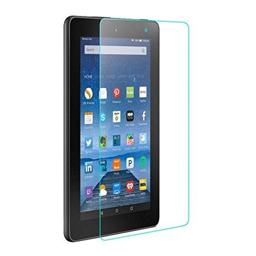 Wokee Panzerglas Folie Screen Protector Retail-Verpackung Gehärtetes Glas Displayschutzfolie FLIM für Amazon Kindle Fire HD 7 2015 Tablet