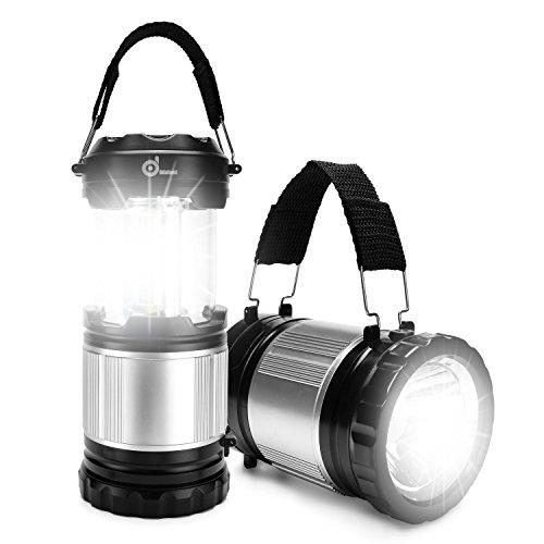 LED Laterne, ODOLAND 2in1 Camping Laterne + Taschenlampe - neue LEDs 300lm,Campinglampe Campingleuchte Zeltlampe Notlicht Notfalllampe, 245g, wasserresistent Tragbar, für Camping Outdoor Wandern Zubehör Ausfälle Garten
