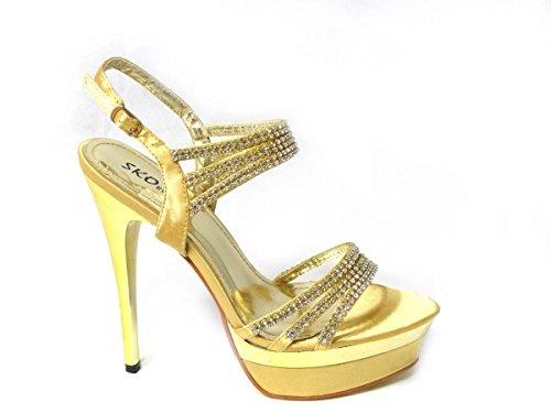 SKO'S , Bride de cheville femme Gold (1151-10)