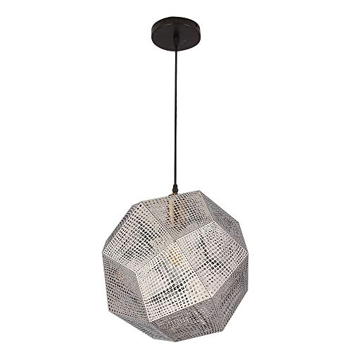 Geometrischer Leuchter des Edelstahls Metallpersönlichkeits-Kunst-Bar-Restaurant-Kaffeestube-Lampen Laternen,Silberne Farbe -