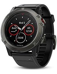 Garmin Fenix 5X Saphhire Gray - Montre GPS Multisports Outdoor - Bracelet Noir