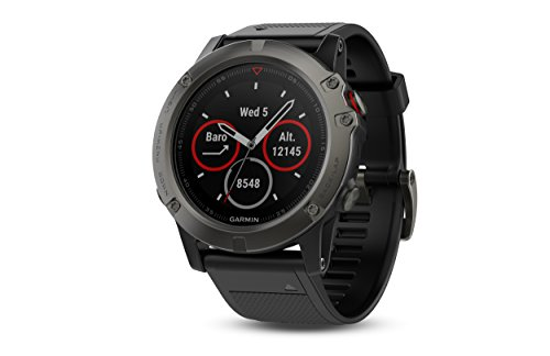 Garmin fenix 5X Saphir Wearable grey/black 2017 bike computer with heart rate monitor