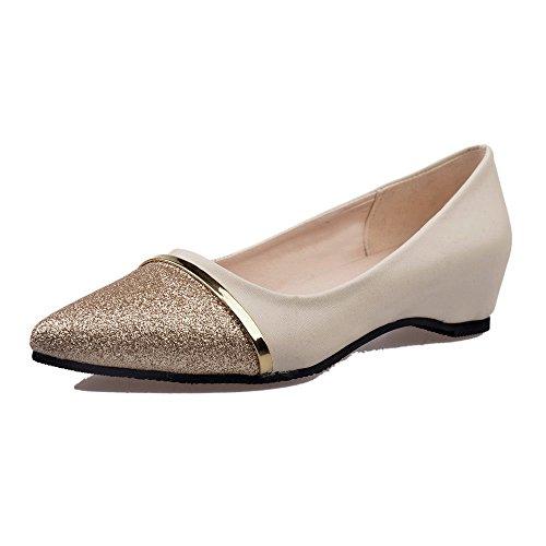 ZahuihuiM Damen Damenschuhe Mode Pailletten Spitz Freizeitschuhe Niedrige Ferse Flache Flacher Mund Einzelne Schuhe -