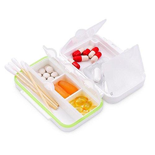 WAOBE Pill Box - Mini tragbare kleine Box Portable Spende Box Sicherheit PP Material gute Abdichtung