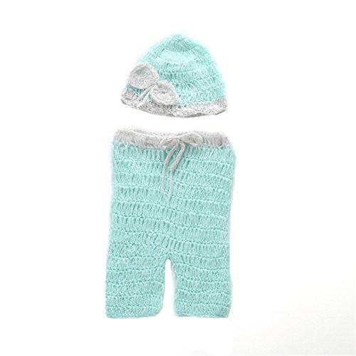 Fashion Neugeborene Jungen Mädchen Baby Kostüm Fotografie Requisiten Ma Hai Mao Strickmütze Set