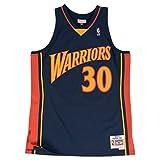 Mitchell&Ness M&N NBA Swingman Jersy Retro Trikot mit 7kmh Aufkleber Golden State Warriors - Stephen Curry L