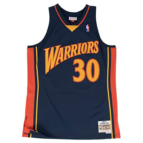 A Swingman Jersy Retro Trikot mit 7kmh Aufkleber Golden State Warriors - Stephen Curry M ()