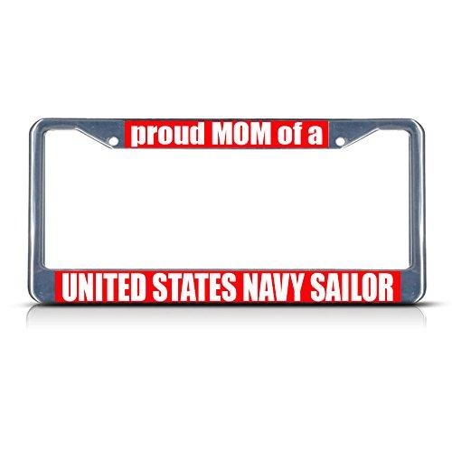 Metall-Kennzeichenrahmen mit Aufschrift Stolze Mutter eines USA, ideal für Männer, Frauen, Auto-Garadge