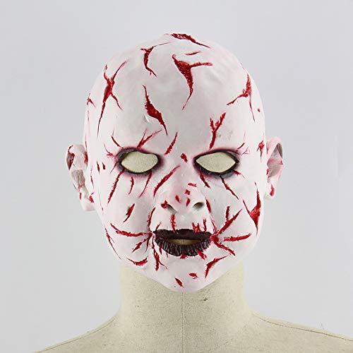 Blood Face Ghost Baby Halloween Horror Doll Latex Ghost Maske Zimmer Requisiten (Halloween Face Doll)