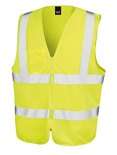 Result Core Men's Core safety zip tabard, SM, Yellow