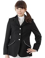 Chaqueta de concurso de hípica equi-Thème, damas, color noir, col velours noir, doublure gris, tamaño 38