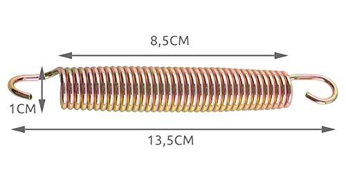 MALATEC Trampolin Federn 145mm; 135mm;165mm Set 10 Stück Stark Langlebig Edelstahl Leichtgewicht 2239, Größe:135 mm