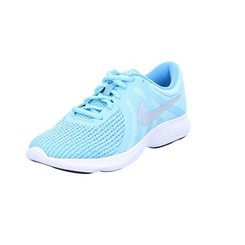 Nike Damen Revolution 4 (GS) Traillaufschuhe, Blau (Bleached Aqua/Metallic Silver 400), 38 EU