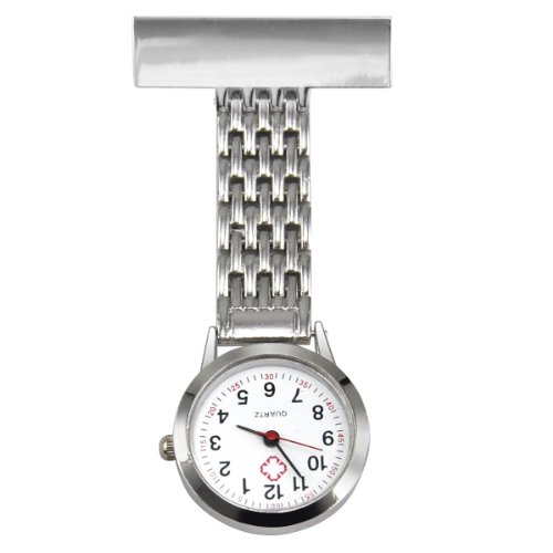 Trixes Silberne Quarz-Armbanduhr für KrankenpflegerInnen - Desinfiziert