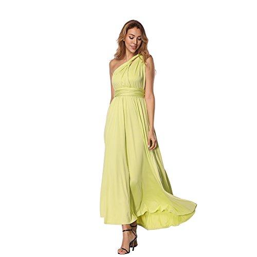 Damen Partykleid Sexy V-Ausschnitt Rückenfrei Satin Maxi Kleid Lang Kleid Abendkleid Dress mit...