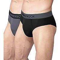 DAMENSCH Men's 3X Softer Micromodal Air Briefs - Pack of 2 (100% Guarantee if NOT satisfied) Colors - Klintt Black, Wilsen Grey