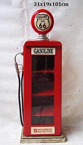 'Retro Vintage pared armario/vitrina 'Route 66surtidor–Rojo