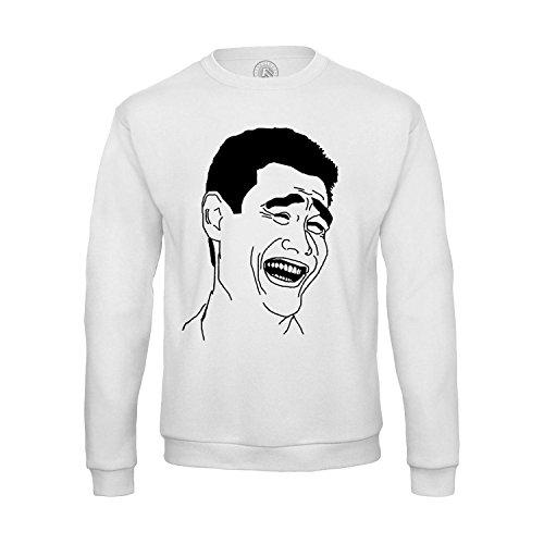 Sweat-shirt Homme Yao Ming Meme Troll Face Fun