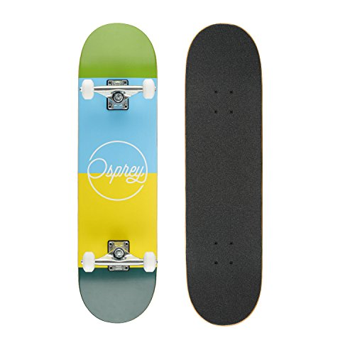 Osprey Absolute Anfänger Double Kick Trick Skateboard, 78,7 x 20,3 cm Ahorndeck