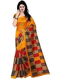 Women's Bhagalpuri Art Silk Traditional Saree Unstitched Blouse Design (BHAGALPURI SAREE 26_Multi Color)