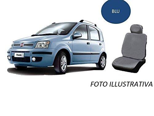 RICAMBIITALIA2017 SET FODERE COPRISEDILI ANTERIORI + POSTERIORI PANDA 2003-2011 (BLU)
