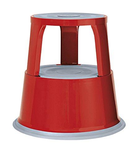 Wedo 212102 Rollhocker (Metall TÜV- und GS-geprüft nach EN 14183-F) rot