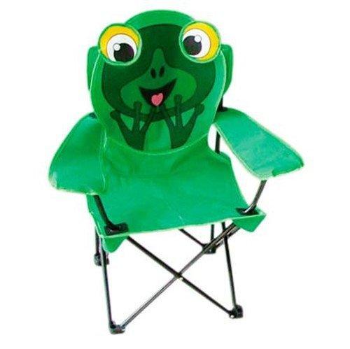 Camping Kinder-Klappsessel + Tasche Kinderstuhl Klappstuhl Gartenstuhl Faltstuhl, Motiv:Frosch