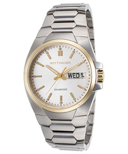 Wittnauer WN3045 Men's Brody Silver Dial Steel Bracelet Diamond Watch