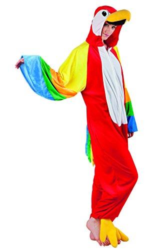 Boland 88046 Erwachsenenkostüm Papagei aus Plüsch, grün, - Lustige Partner Kostüm