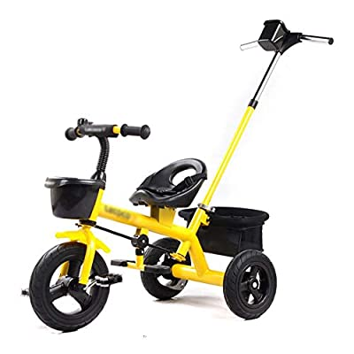 LYDB Trikes for Toddlers,Child Tricycle 2-5 Years Old Kids Baby Trolley Preschool Bike Bicycle (Color : Yellow)