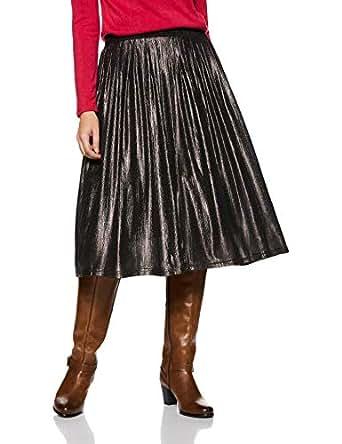 United Colors of Benetton Women's Pleated Midi Skirt (18A3CH5E6127I_Black_XS)