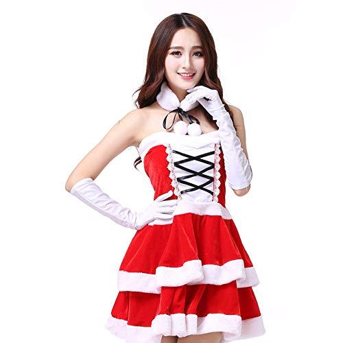 GSDZN - Lady/Fehl Weihnachtsmann Damen, Sexy Weihnachtskostüm, Parteirollenspiel, Fehlschlag: 74cm, Eine Größe,OneSize