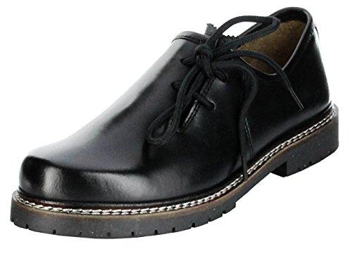 Bergheimer Trachtenschuhe Haferlschuhe schwarz Herren Halb-Schuhe Bergheim, Größe:40, Farbe:schwarz
