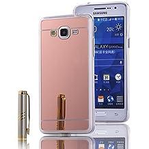 MOONCASE Galaxy Grand Prime G530 Funda, Slim Carcasa con Efecto Espejo Suave TPU Silicona Cubierta para Samsung Galaxy Grand Prime G530 (Rose Oro)