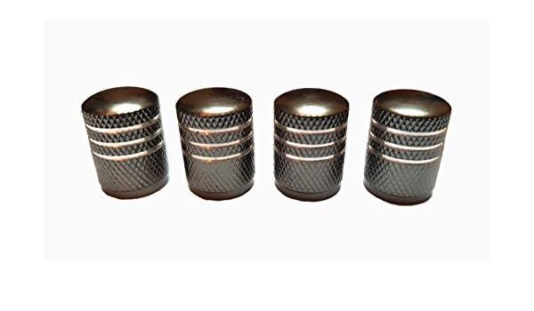 4 St/ück Ventilkappen Aluminium SILBER GRAU Ventile f/ür Reifen Pkw Motorrad Fahrrad