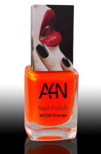 Neon Nagellack orange 12 ml leuchtet im Neon Licht greller Farbton ...